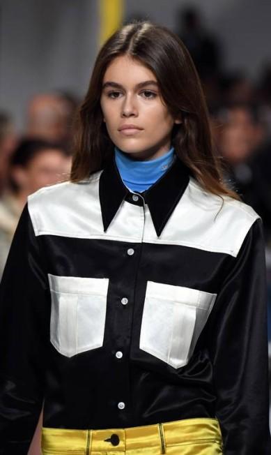 Kaia Gerber para a Calvin Klein ANGELA WEISS / AFP