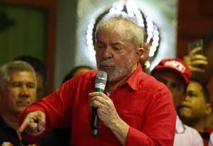 O ex-presidente Luiz Inácio Lula da Silva Foto: Pablo Jacob / Agência O Globo 12/08/2017