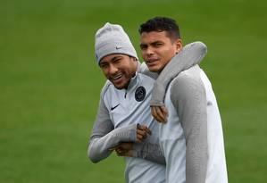 O Paris Saint-Germain de Neymar e Thiago Silva estreia na Liga dos Campeões hoje, contra o Celtic Foto: CHRISTOPHE SIMON / AFP