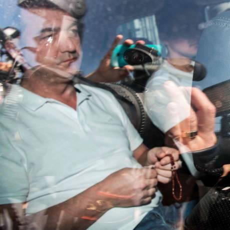 Joesley Batista, dono da JBS, está preso na superintendência da Polícia Federal, em Brasília Foto: NELSON ALMEIDA / AFP PHOTO