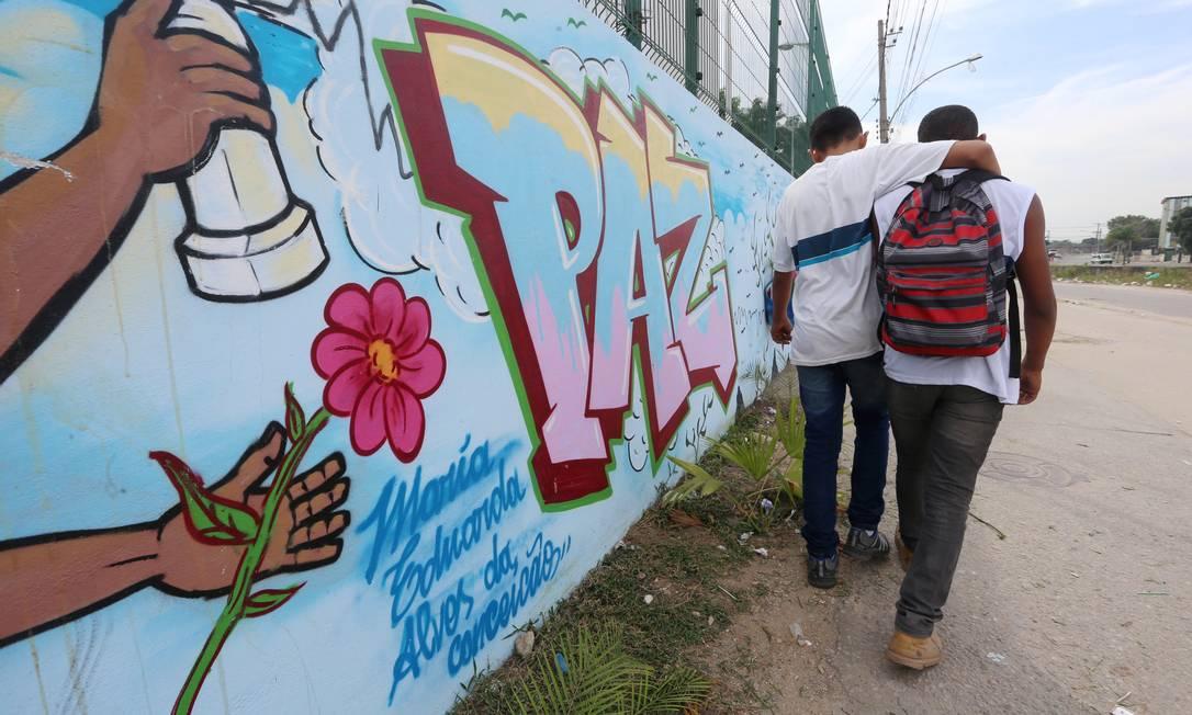 Escola Municipal Daniel Piza, em Acari, integra a região do estado onde há mais aulas perdidas em função da violência Foto: Fabiano Rocha / Agência O Globo