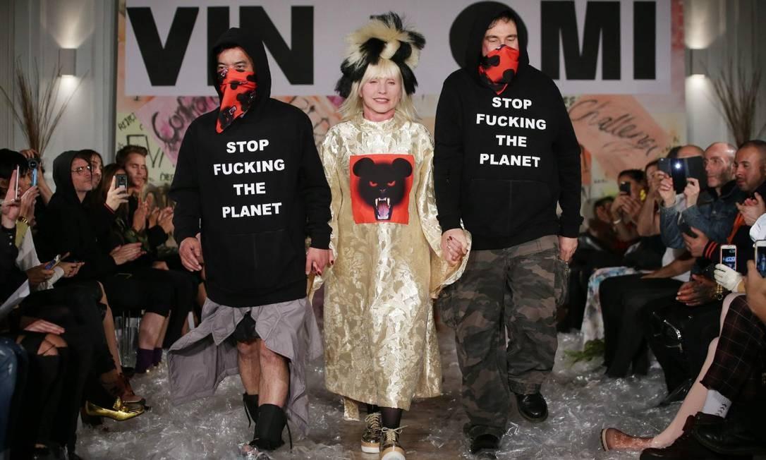 Mais de Debbie Harry na passarela DANIEL LEAL-OLIVAS / AFP