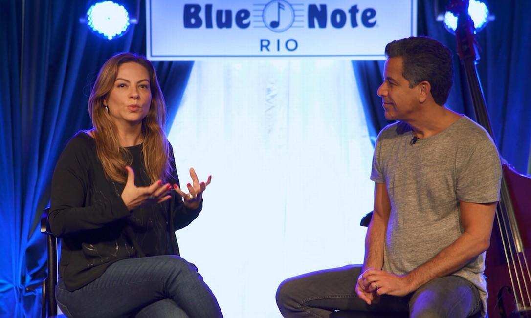 Agatha Arêas, diretora de Marketing do Rock in Rio, e o empresário Luiz André Calainho, conversam sobre tema do Rock in Rio Academy By HSM Foto: Divulgação