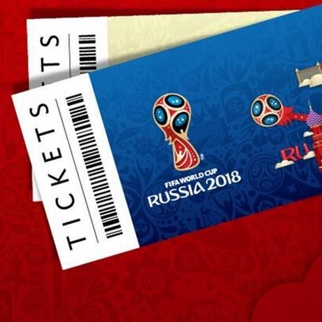 Ingressos para a Copa do Mundo da Rússia Foto: Reprodução Fifa