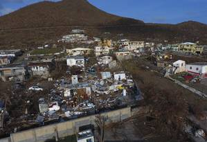 Foto mostra o estrago após a passagem do furacão Irma em St. Martin Foto: Joel Antonio Colon / AP