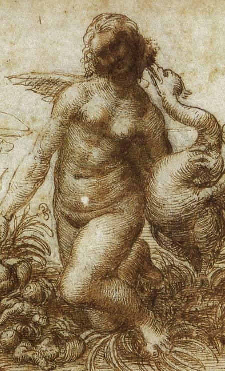 Desenho sobre papel, de Leonardo Da Vinci (1505-1507). Foto: Reprodução / Museu Boijmans Van Beuningen, Roterdã