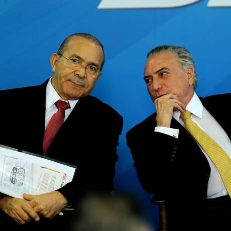 O ministro Eliseu Padilha e o presidente Michel Temer Foto: Jorge William / Agência O Globo / 12-9-17