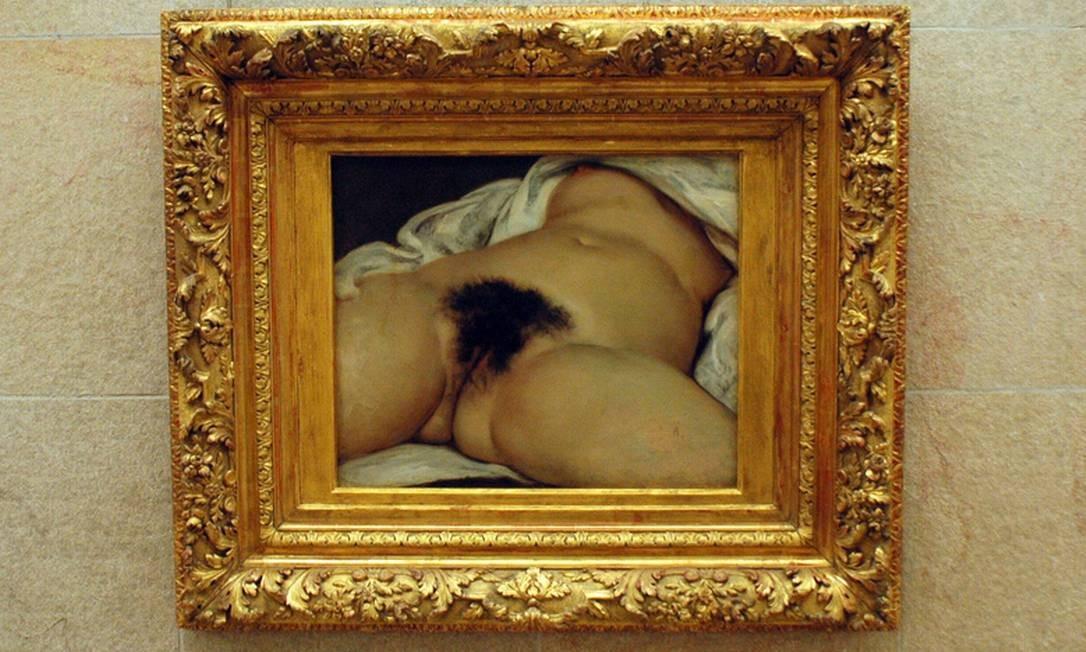 """""""A origem do mundo"""", de Gustave Courbet (1866). Entre outros donos, o quadro pertenceu ao psicanalista Jacques Lacan, que o mantinha em sua casa de campo em Guitrancourt Foto: Reprodução / Musée D'Orsay"""