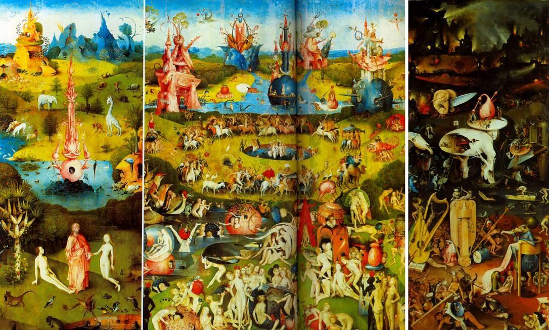 """""""O jardim das delícias"""" (1503-1504), de Jérôme Bosch. Foto: Reprodução / Museu do Prado, Madri"""