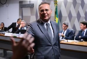 Senador Renan Calheiros durante votação da reforma trabalhista na Comissão de Constituição e Justiça do Senado - 28/06/2017 Foto: Jorge William / Jorge William