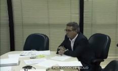 O diretor da JBS Ricardo Saud, em um dos depoimentos de delação premiada Foto: Reprodução