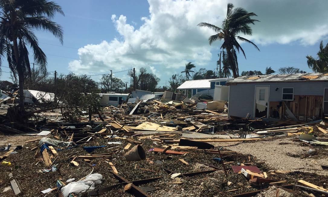Nas Florida Keys, pelo menos 25% das casas foram destruídas pelo furacão, de acordo com as primeiras estimativas de Agência Federal de Gestão de Emergências (Fema, na sigla original) americana. Cerca de 60% foram danificadas Foto: Henrique Gomes Batista / .