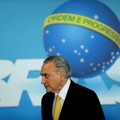 O presidente Michel Temer Foto: Jorge William / Agência O Globo / 12-9-17