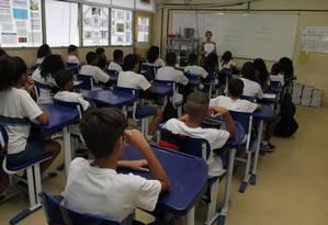 Queda foi registrada no fundamental e no médio Foto: Zeca Gonçalves / Agência O Globo