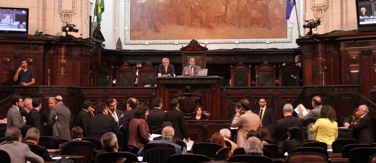 Plenário da Alerj: deputados votarão contas de Pezão de 2016 Foto: Divulgação Alerj
