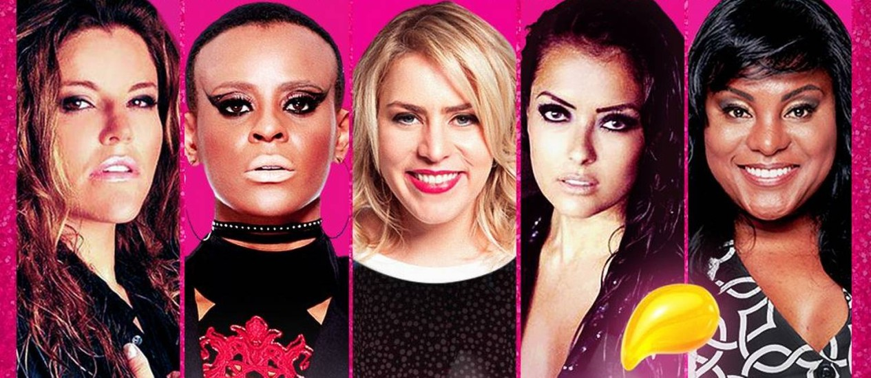 Fantine, Aline, Luciana, Li Martins e Karin Hill: as meninas do Rouge Foto: Divulgação