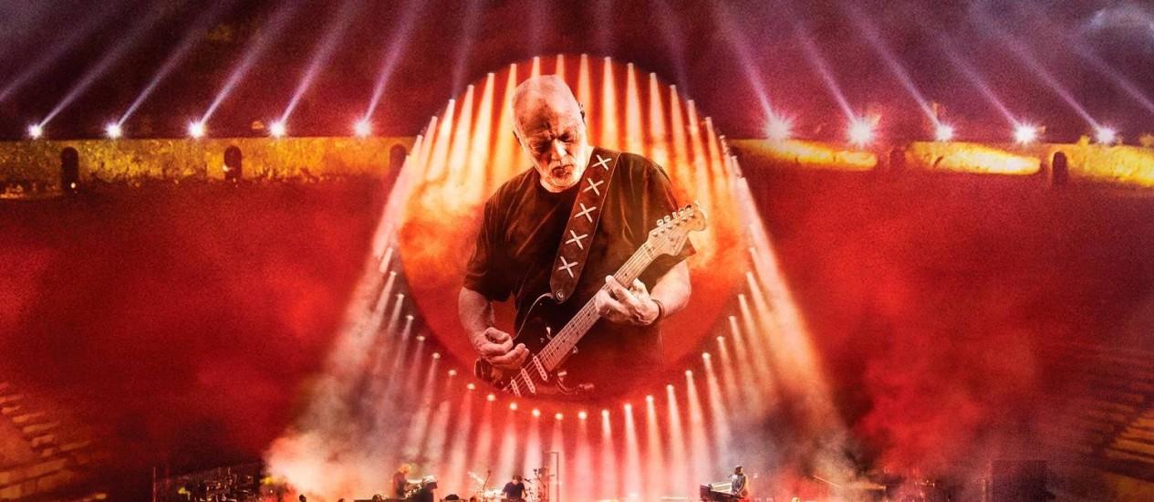 Cena do fime-concerto 'David Gilmour: Live In Pompeii' Foto: Divulgação