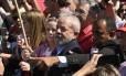 Chegada do ex-presidente Luiz Inacio Lula da Silva a Curitiba para interrogatório