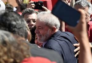 Ex-presidente Luiz Inacio Lula da Silva em Curitiba para interrogatório referente à acusação de que ele recebeu propina da Odebrecht Foto: Denis Ferreira / AP