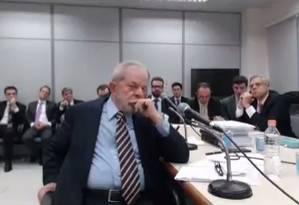 Lula deixa perguntas sem respostas em depoimento a Moro Foto: Reprodução