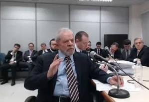 'Vi o Palocci mentir aqui', diz Lula a Moro Foto: Reprodução