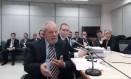 Lula presta depoimento a Sergio Moro Foto: Reprodução