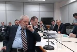 O ex-presidente Lula prestou depoimento ao juiz Sergio Moro Foto: Reprodução