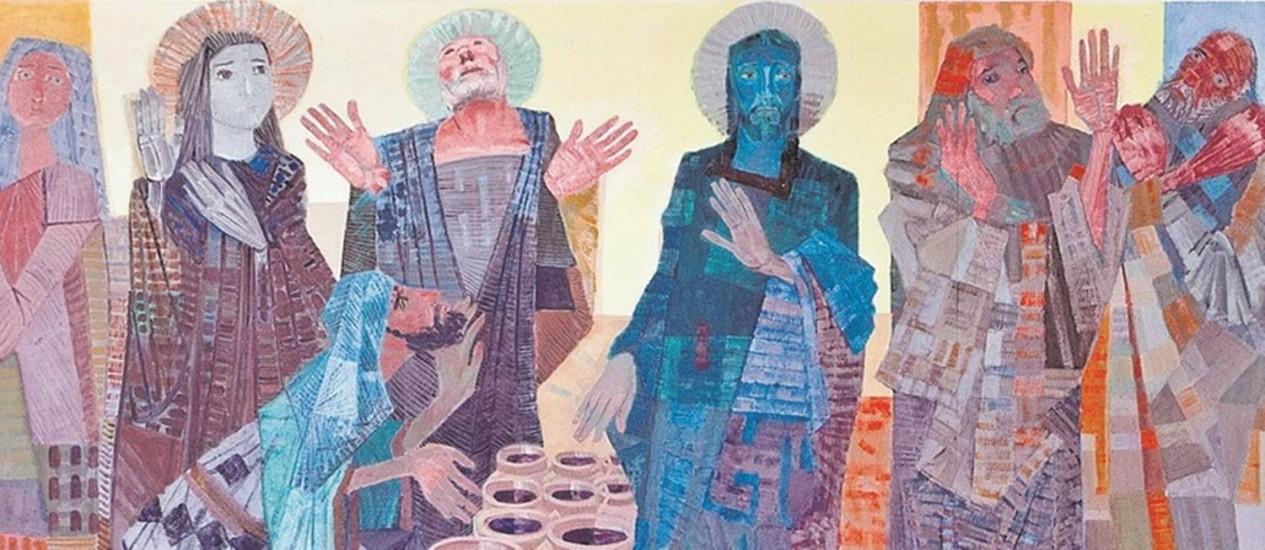 Obra retrata o primeiro milagre da vida pública de Jesus Foto: Divulgação/Rafael Adorján
