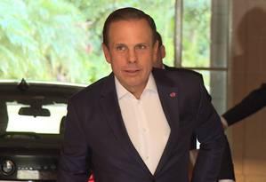 O prefeito de São Paulo, João Doria, ao chegar para compromisso com empresários em Buenos Aires Foto: Janaina Figueiredo/O GLOBO