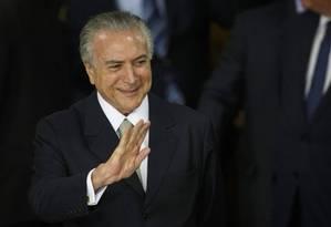 Michel Temer toma posse como presidente da República Foto: Ailton de Freitas
