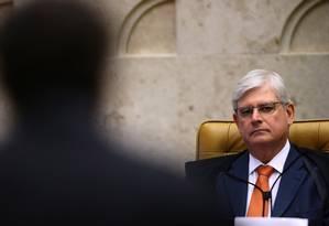 O procurador-geral da República, Rodrigo Janot, participou de sessão plenária do Supremo Tribunal Federal (STF) - 14/09/2017 Foto: Jorge William / Agência O Globo