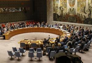 Membros do Conselho de Segurança da ONU votam em novas sanções contra o regime norte-coreano Foto: KENA BETANCUR / AFP