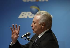 O presidente Michel Temer Foto: Edilson Dantas / Agência O Globo / 8-8-17