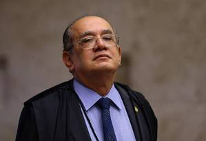 O ministro Gilmar Mendes, em sessão do Supremo Foto: Jorge William / Agência O Globo/14-09-2017