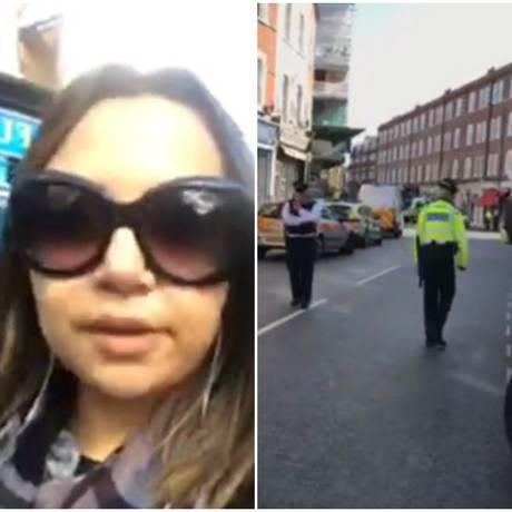 A brasileira Wandy Luz mostrou o bloqueio policial nas proximidades da estação onde ocorreu um atentado terrorista em Londres Foto: Facebook/Reprodução
