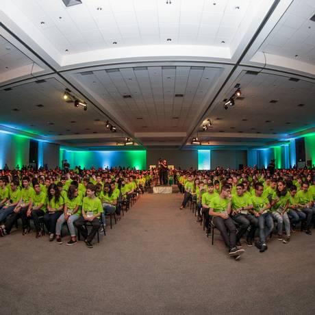 Cerimônia de premiação da OBMEP em 2016 Foto: Divulgação