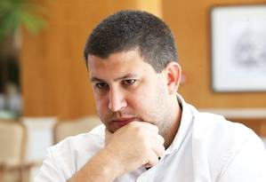 O prefeito David Smolansky fala em hotel em Brasília Foto: Ailton de Freitas / Agência O Globo