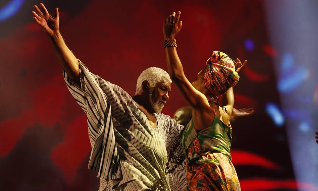 Homenagem ao samba no palco Sunset no Rock in Rio Foto: Roberto Moreyra / O Globo