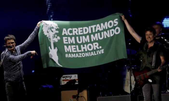Skank se apresenta no palco mundo Foto: Antonio Scorza / O Globo