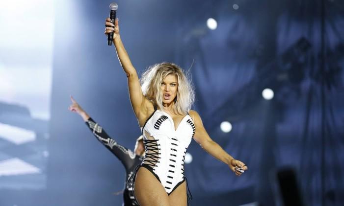 Fergie se apresenta no Palco Mundo Foto: Pablo Jacob / O Globo