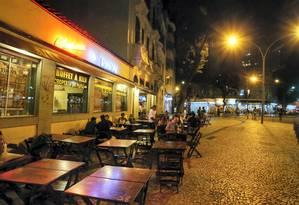A redução do número de pessoas na Lapa é visível para quem passa pela região, uma das mais afetadas pelo aumento da violência na cidade Foto: Roberto Moreyra / Agência O Globo