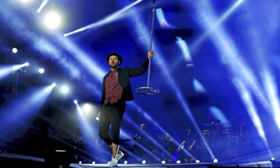 Justin Timberlake encerra o 3º dia do Rock in Rio Foto: Marcelo Theobald / Agência O Globo