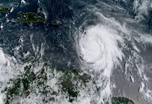 Imagem de satélite mostra o furacão Maria Foto: HO / AFP