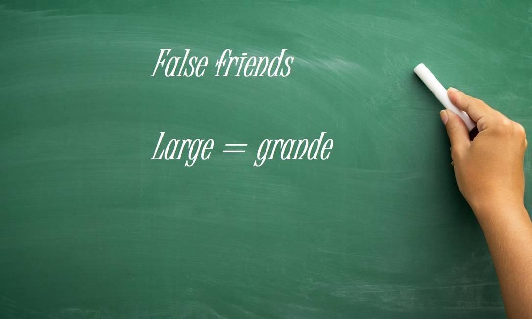 """Large x Largo: """"large"""" significa grande em inglês, e não largo Foto: Fotolia"""