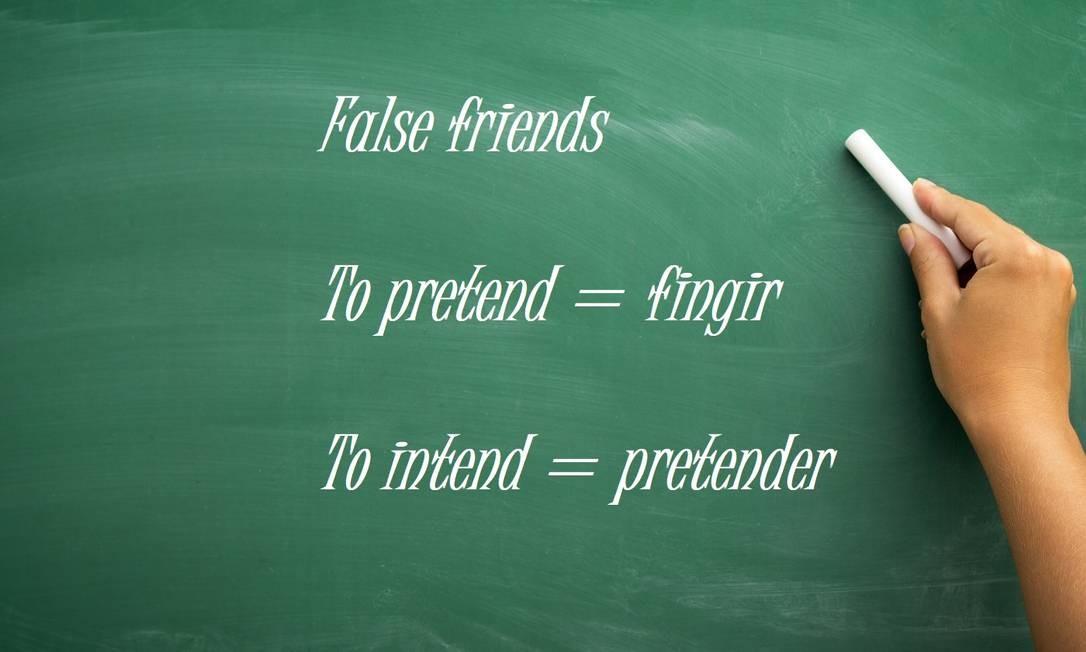"""Pretend x Intend: """"To pretend"""" significa fingir, enquanto """"To intend"""", pretender Foto: Fotolia"""