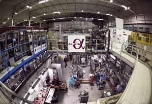 Instalações do experimento Alpha no Cern: busca para resolver mistérios da anti-matéria tem participação fundamental de brasileiros Foto: Divulgação/Cern