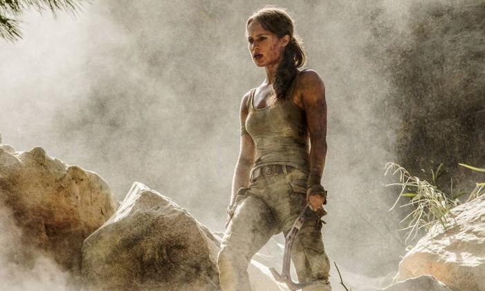 "Alicia Vikander em ""Tomb Raider"" (2018) Foto: IMDb"