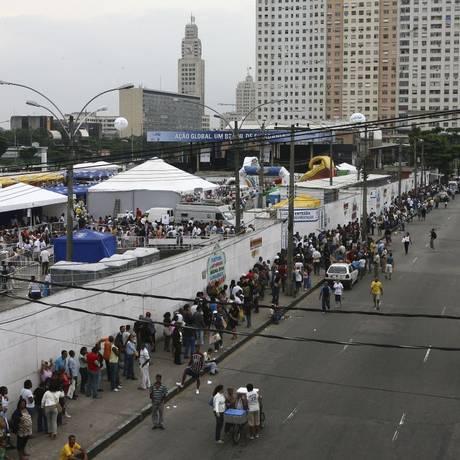 Mudança. O movimentado Terreirão do Samba: empresa vai assumir espaço Foto: Marco Antônio Cavalcanti / 17-5-2008