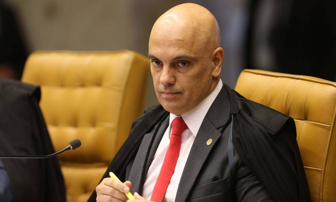 O ministro Alexandre de Moraes, durante sessão do Supremo Tribunal Federal Foto: Givaldo Barbosa / Agência O Globo/31-08-2017