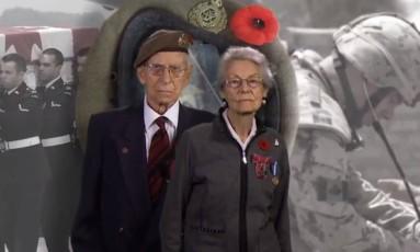 George e Jean Spear foram casados por 75 anos Foto: The Royal Canadian Legion Dominion Command / Reprodução